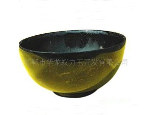 Health jade dark green jade bowl